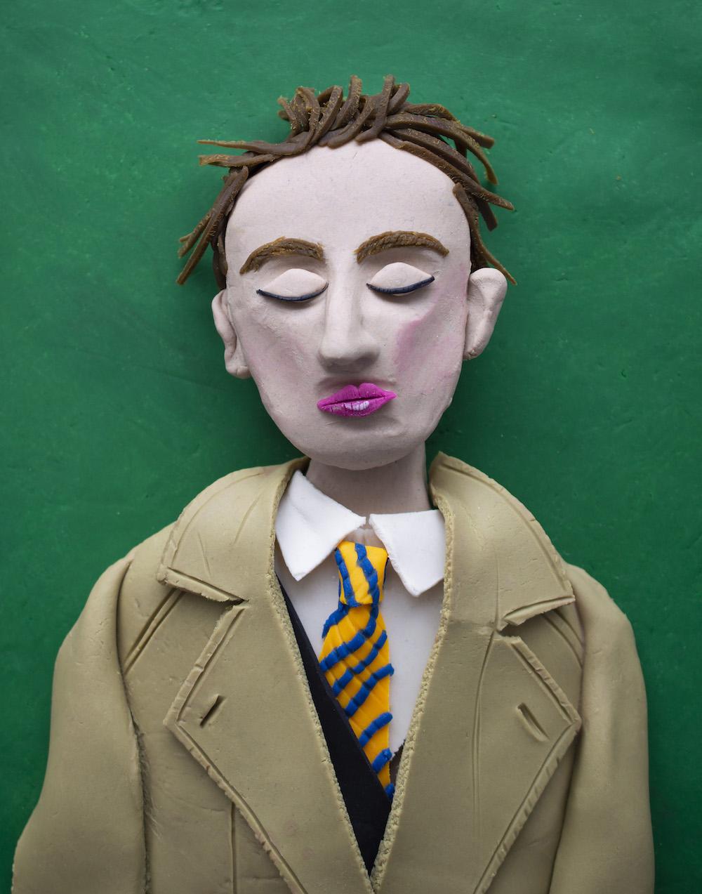 Yves Tanguy, self-portrait in a photomaton_Eleanor Macnair
