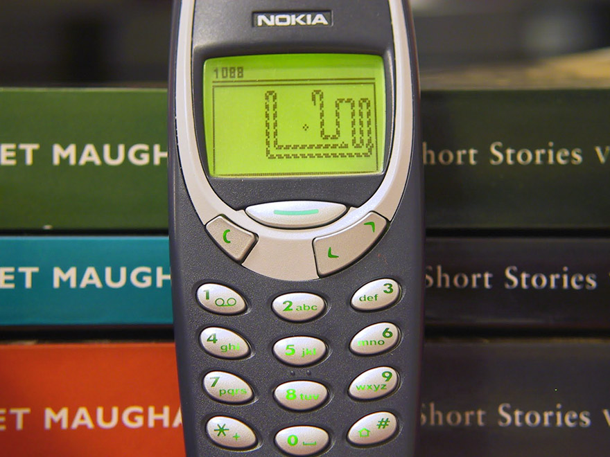 Snake, as seen on a Nokia 3310