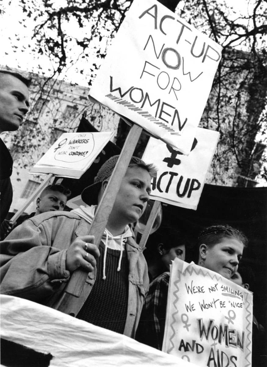Gordon Rainsford, ACT-UP, World AIDS Day, 1 December 1990
