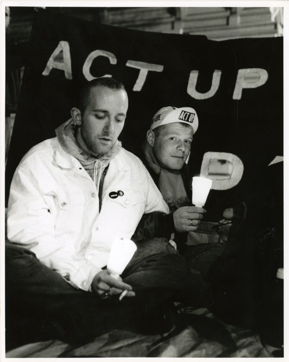Gordon Rainsford, Act-Up, Candle lit vigil, Richmond House, Wed 31.10.90