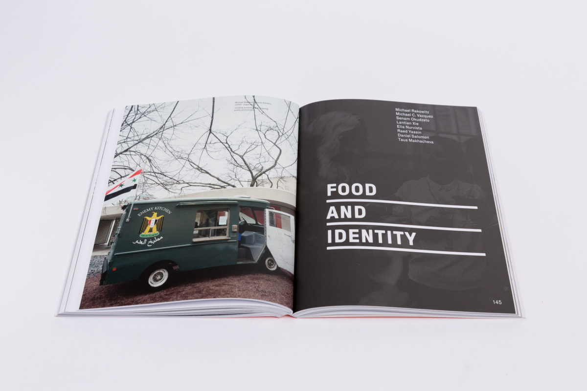 Politics of Food (2019). Edited by Dani Burrows and Aaron Cezar. Co-published by Delfina Foundation and Sternberg Press. Photo Tim Bowditch. Courtesy Delfina Foundation. LR - 66