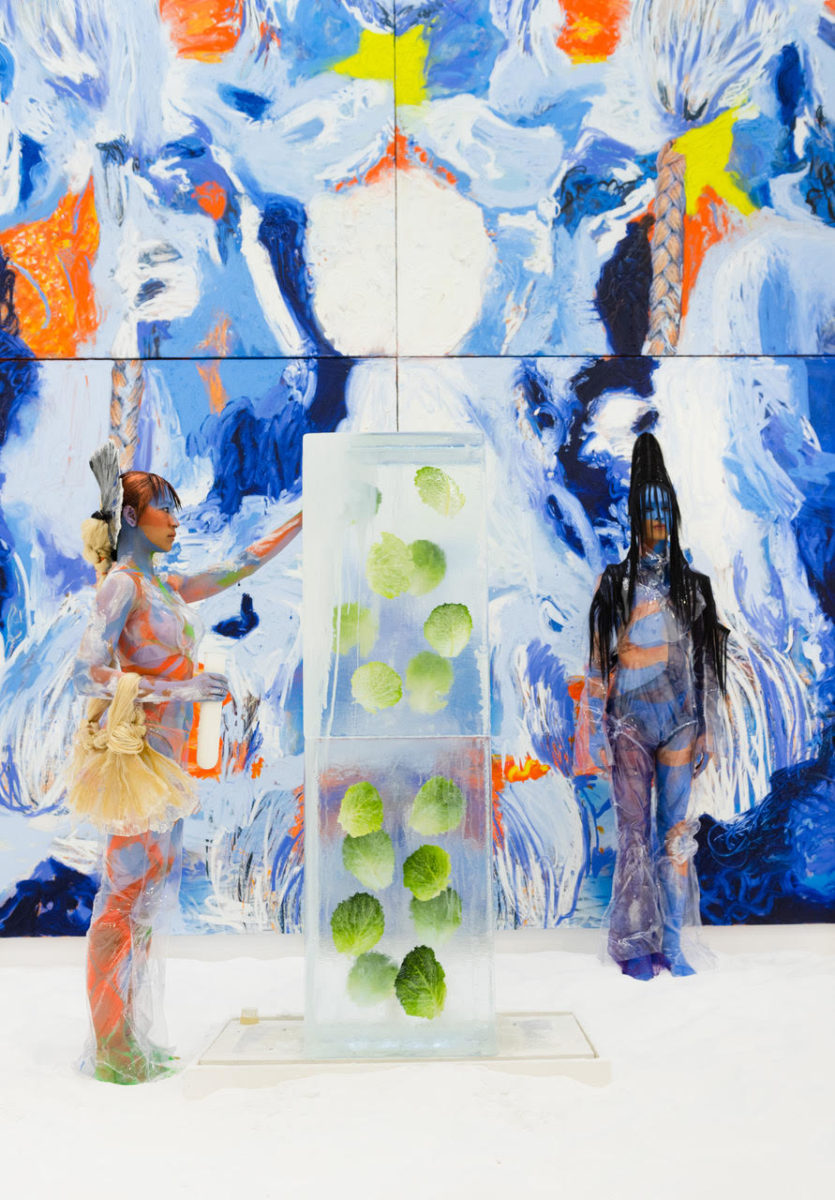 Donna Huanca performance at TRANSFORMER, 2019 (installation shot)