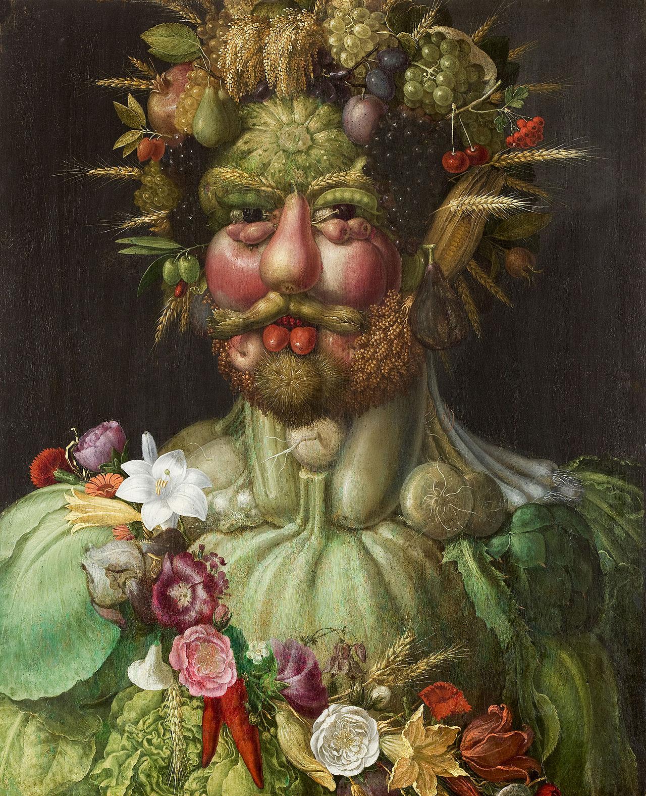 Guiseppe Arcimboldo, Rudolph II as Vertumnus, c. 1590–1591