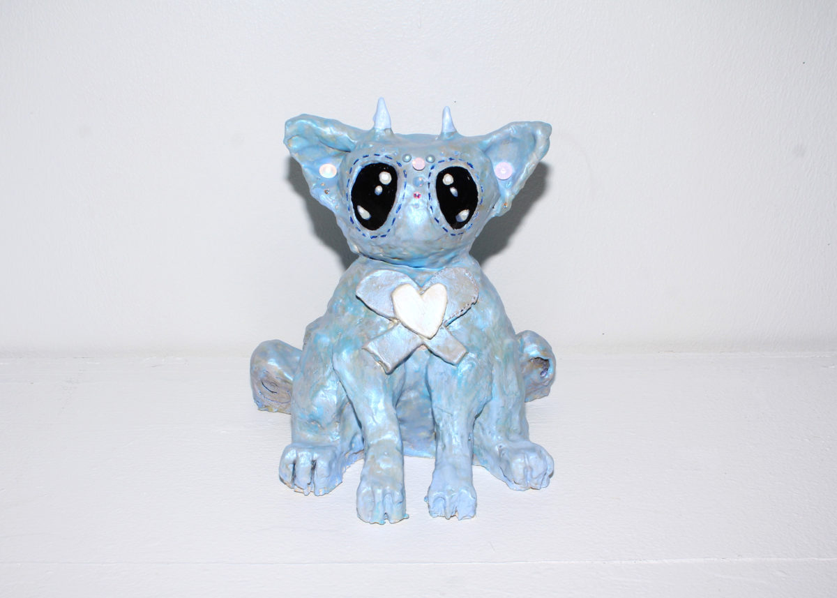 Blue Cat With Bow, 2018