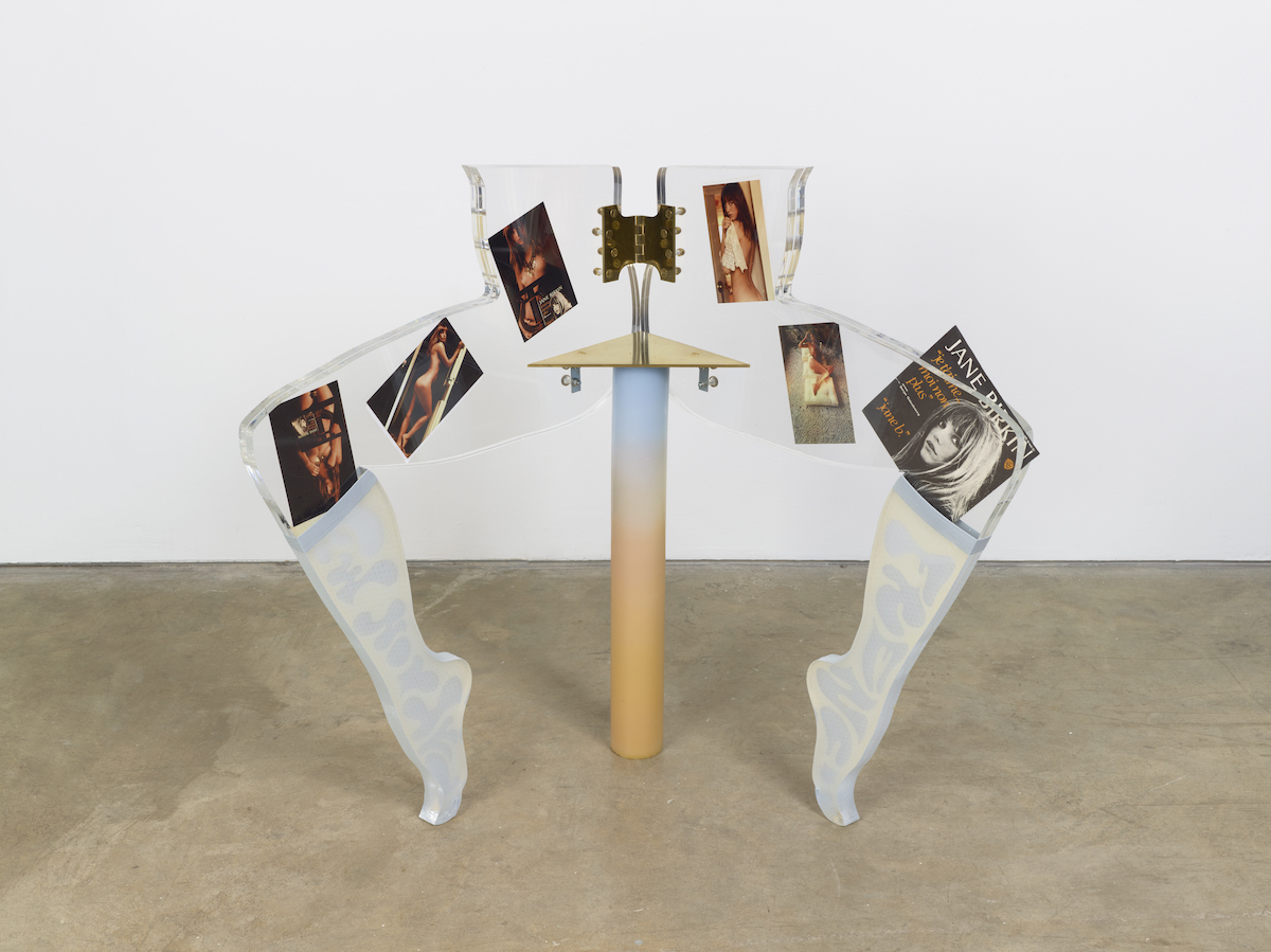 Anthea Hamilton, Leg Chair (Jane Birkin), 2011. Arts Council Collection, Southbank Centre, London © the artist
