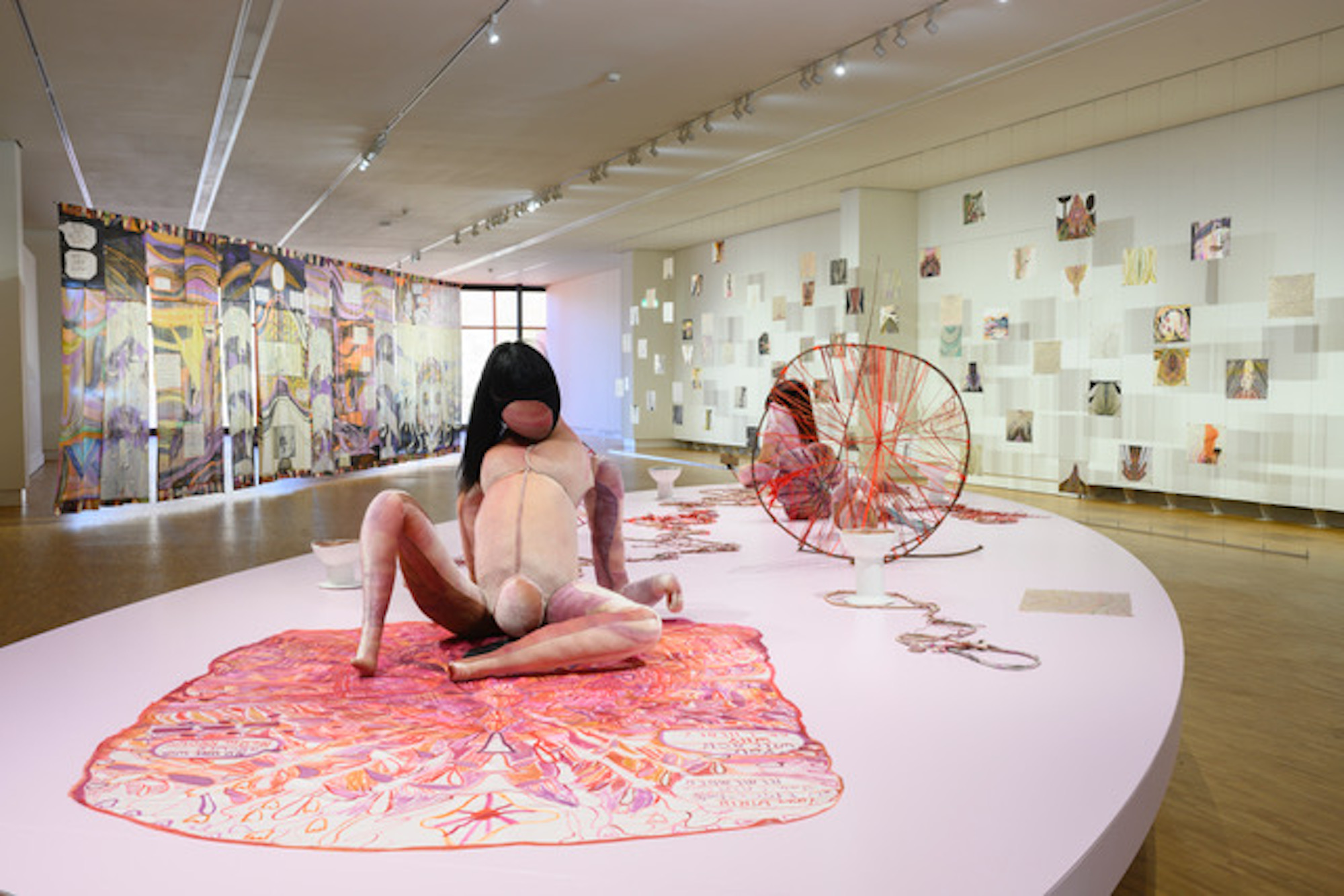 Emma Talbot, Installation view from Sounders of the Depths, showing the work Your Birth - the epic historical moment you can't remember. GEM Museum Voor Actuele Kunst, The Hague. Photo by Peter Cox