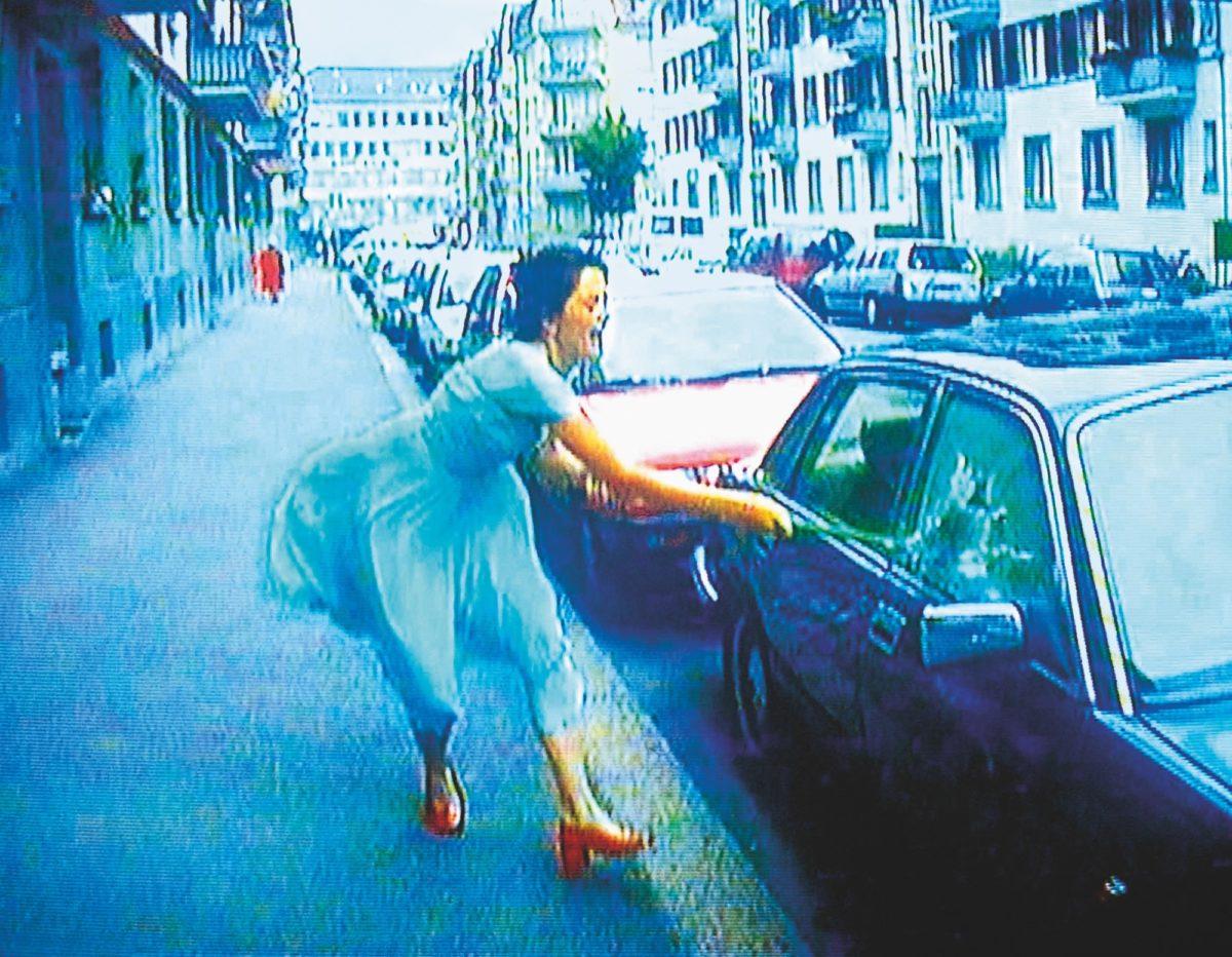 Ever Is Over All, 1997, audio video installation by Pipilotti Rist (still) cmyk 300dpi, 200x156cm, MCA, gekörnt_300dpi_30cm