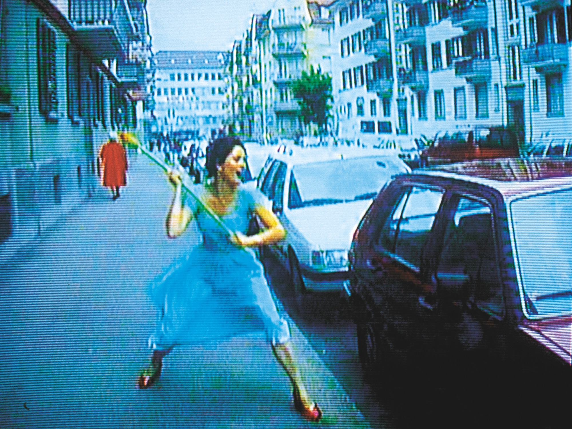 Ever is Over All, 1997, audio video installation by Pipilotti Rist (video still) © Pipilotti Rist. Courtesy the artist, Hauser & Wirth and Luhring Augustine