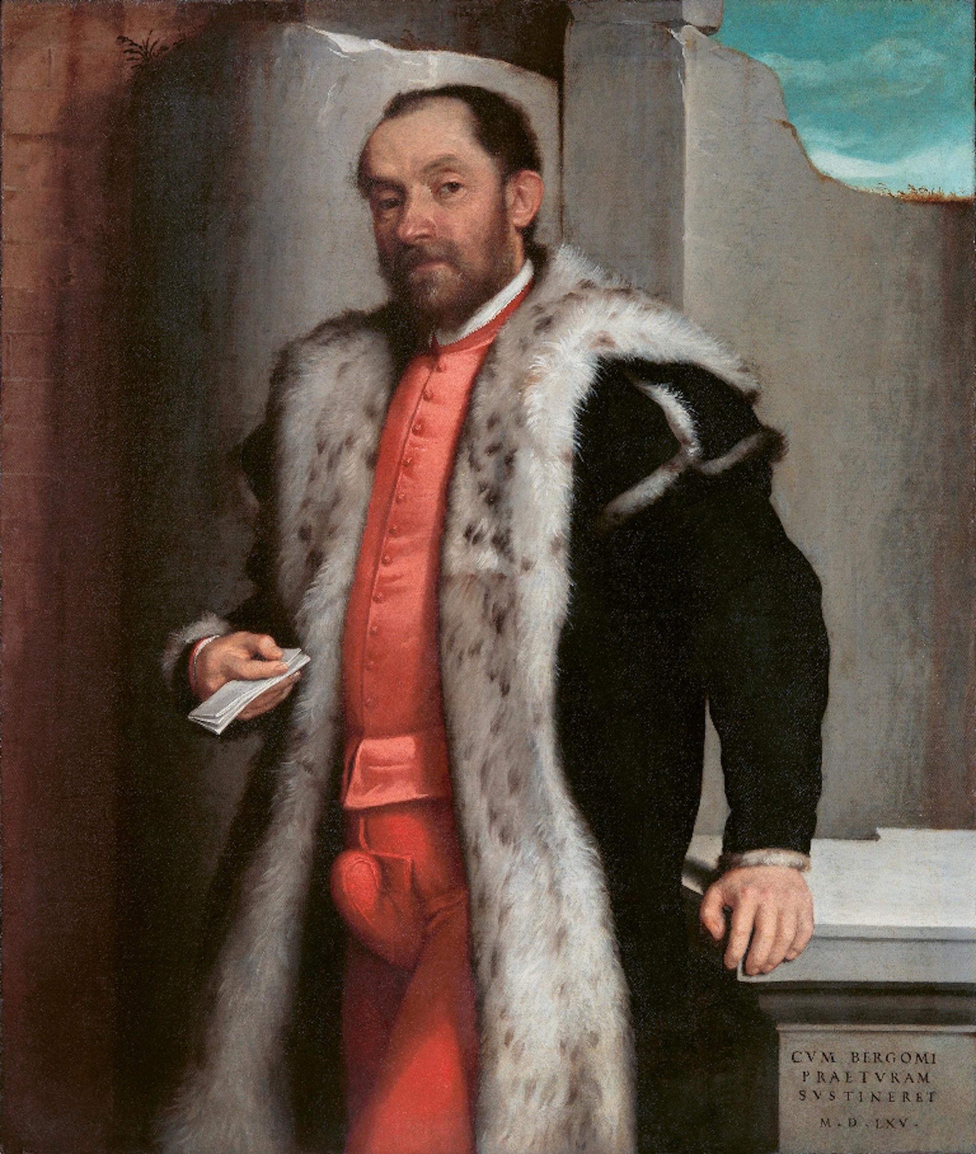 Giovanni Battista Moroni, Portrait of Antonio Navagero, 1565. Pinacoteca di Brera, Milan