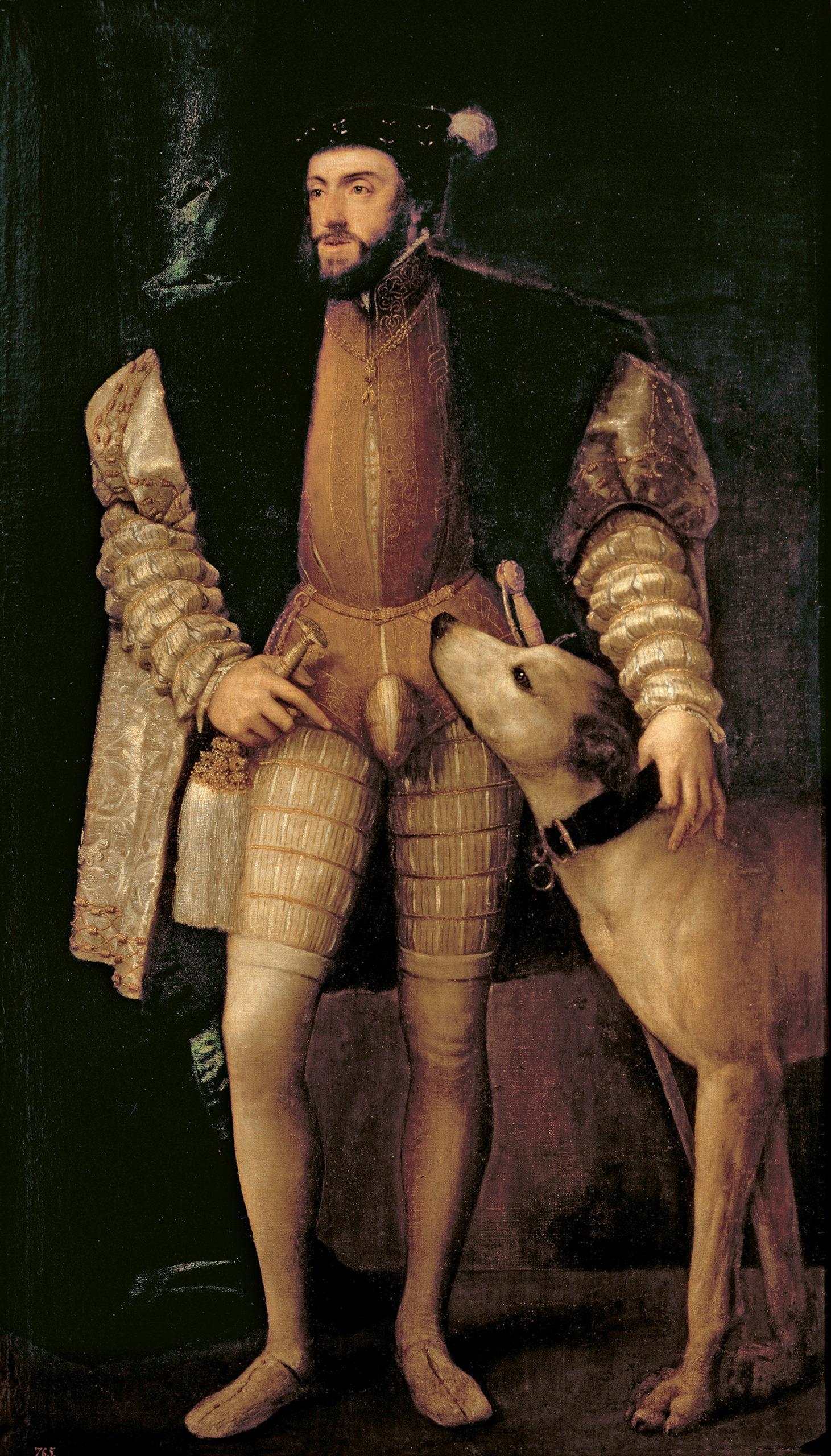Titian, Emperor Charles V with a Dog, 1533. Museo Nacional del Prado, Madrid