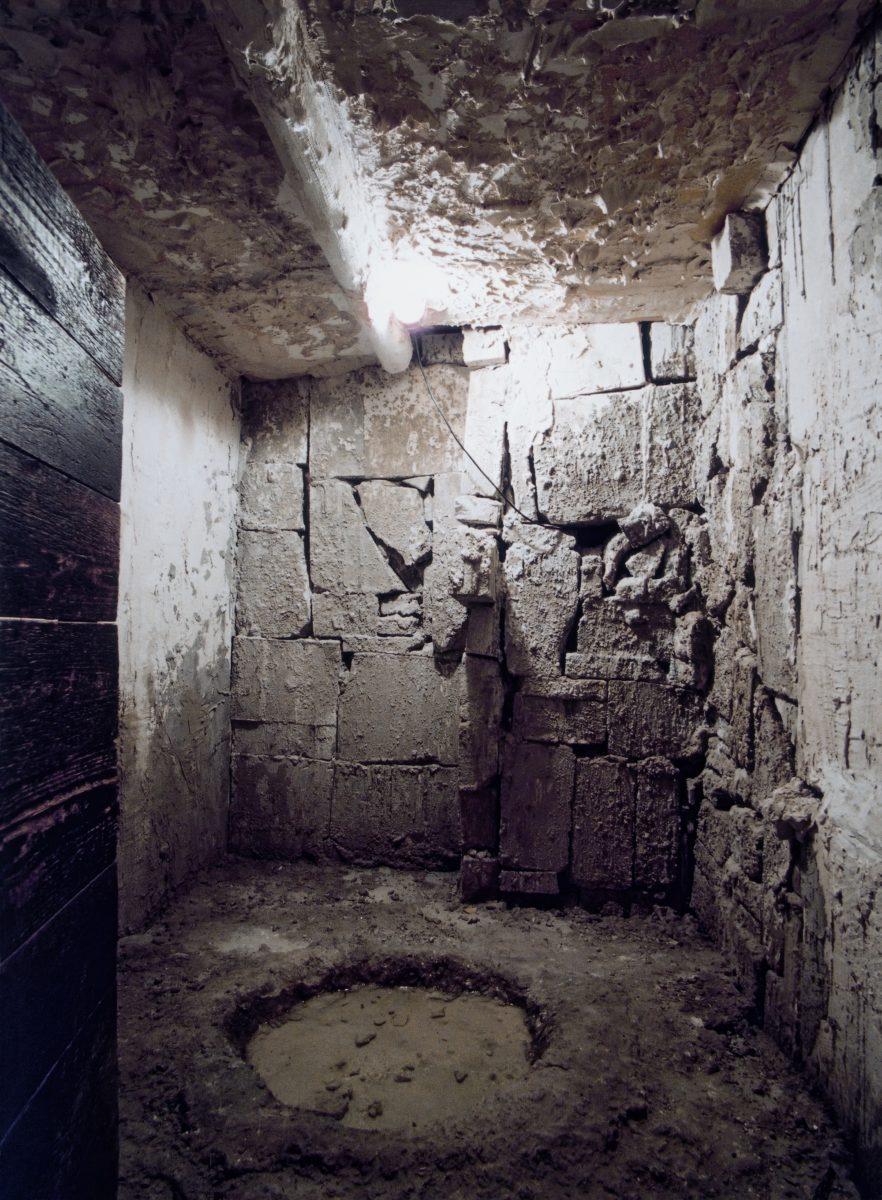The pavilion's dank cellar had burbling puddles