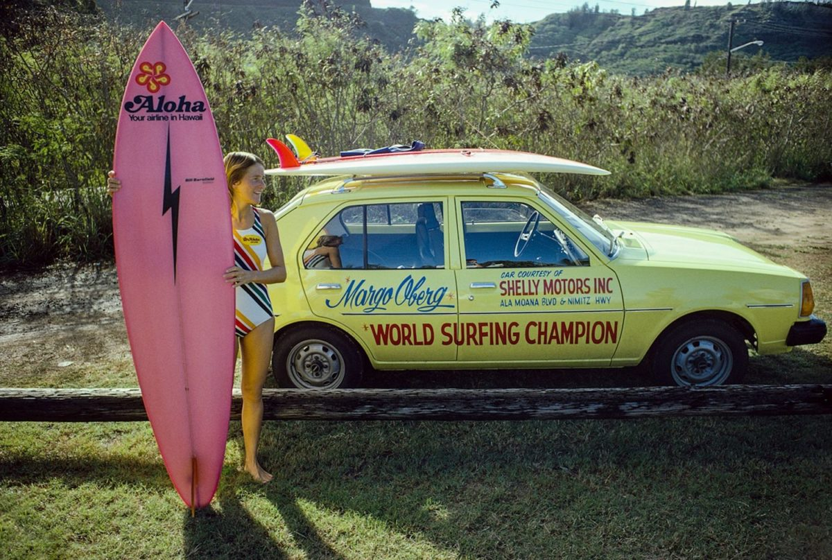 Margo Godfrey Oberg, Sunset Beach, Oahu, Hawaii 1977 – Photo c Jeff Divine