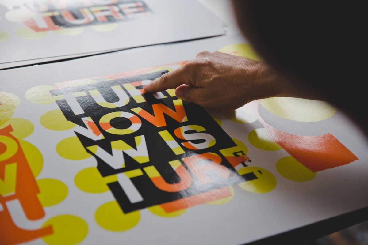 Anthony Burrill and Andrew Claristidge, Future Is Now