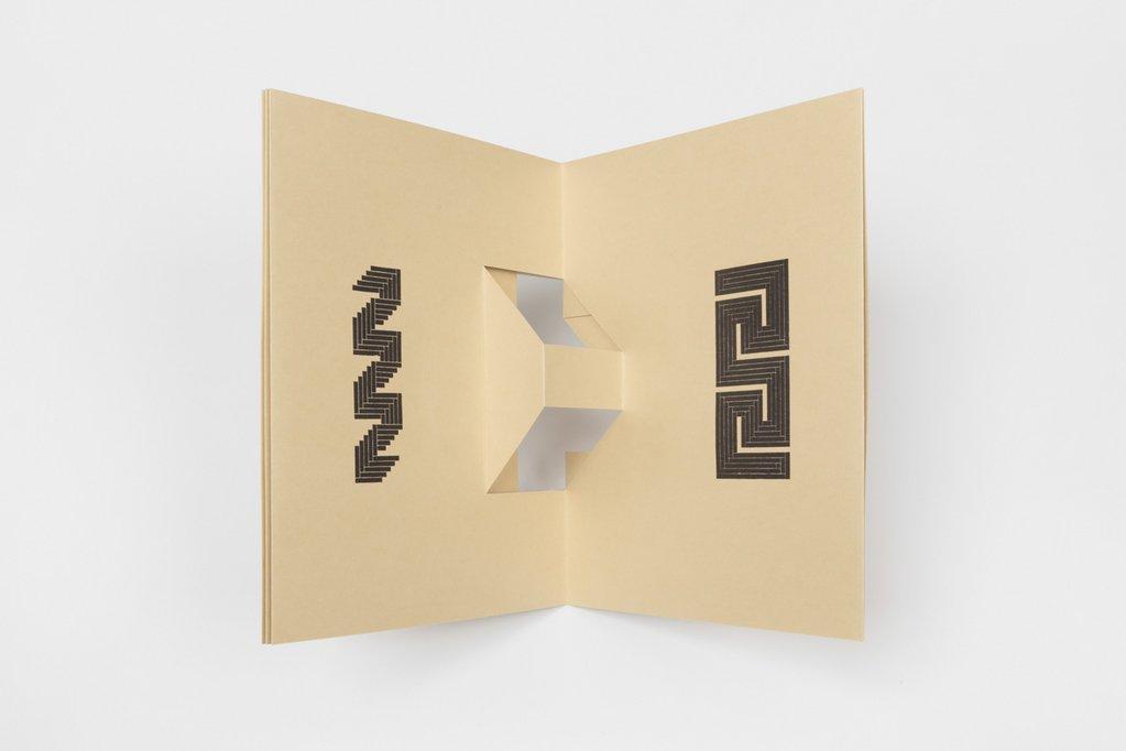 Tauba Auerbach, Reciprocal Score, 2018; courtesy of Diagonal Press; © Tauba Auerbach; photo: Stephen Probert