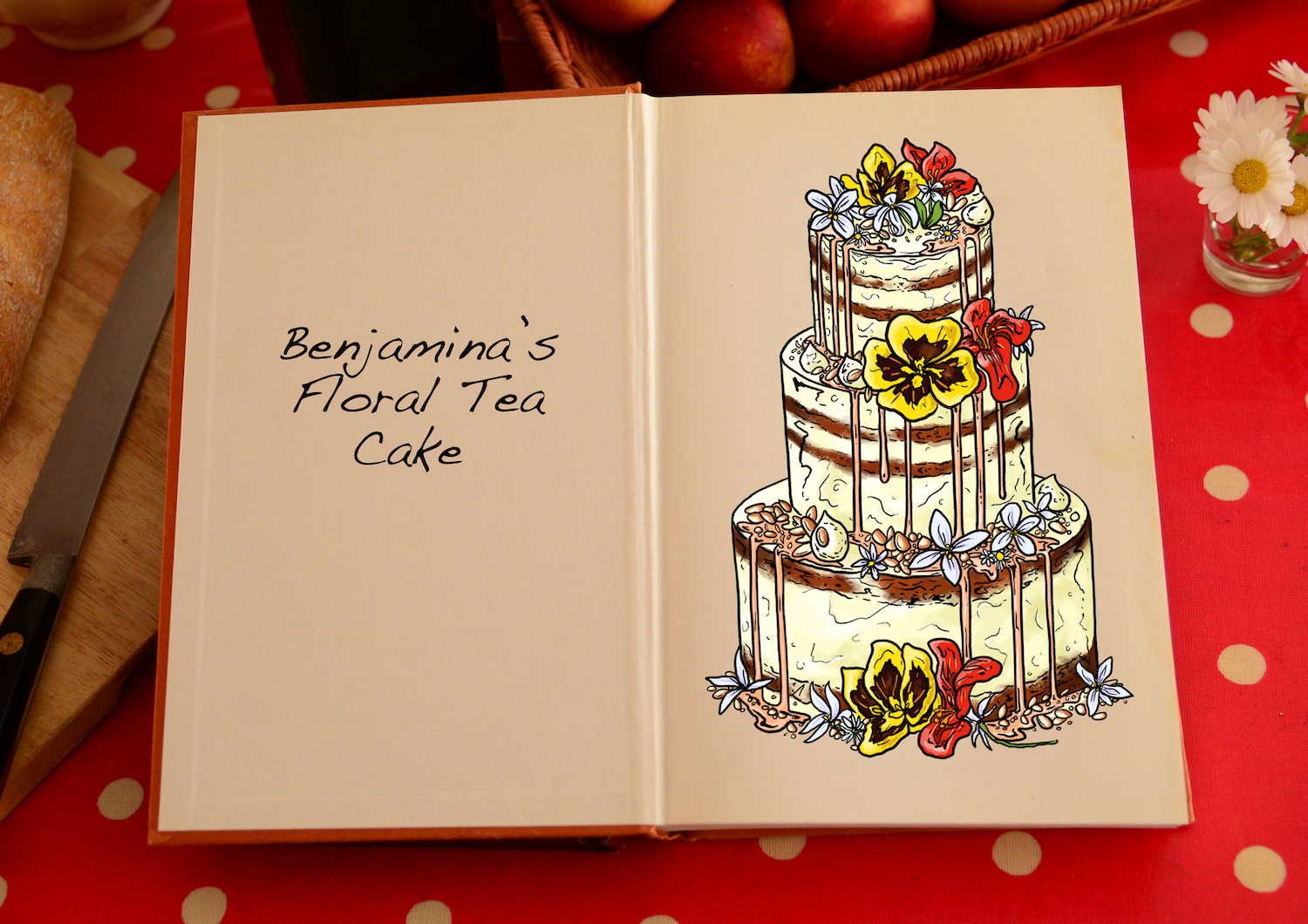 Tom Hovey, Benjamina's Floral Tea Cake, Great British Bake Off Series 7