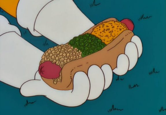 Screenshot from The Simpsons, Isotope Dog Supreme