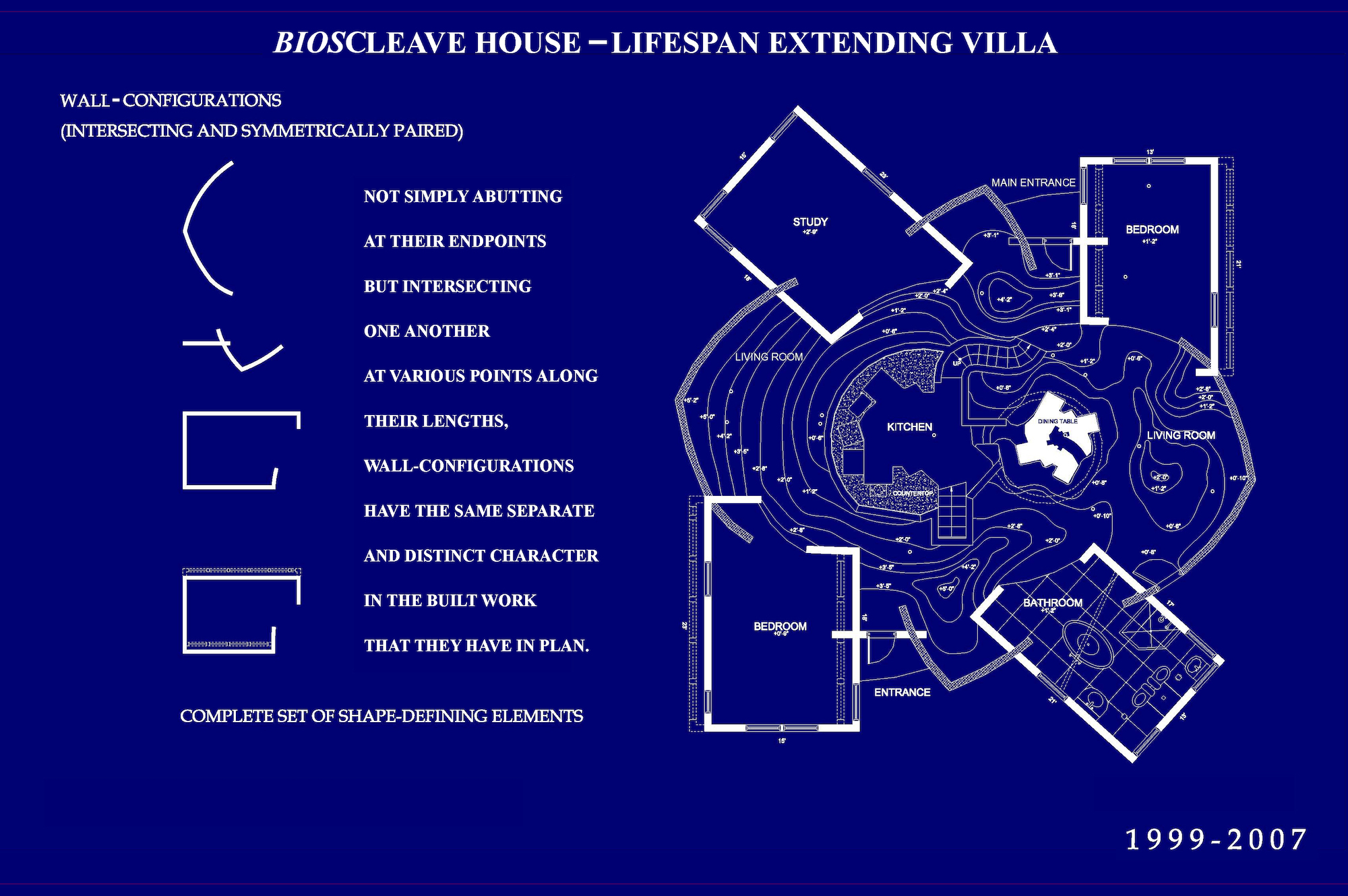Arakawa and Madeline Gins, Bioscleave House (Lifespan Extending Villa) Set of Shape Defining Elements, 2006. © 2010 Estate of Madeline Gins. Reproduced with permission of the Estate of Madeline Gins. Courtesy of Reversible Destiny Foundation
