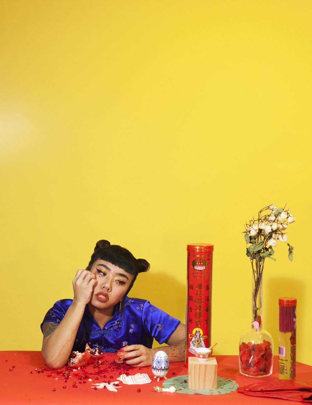 Portrait of Monyee Chau, in collaboration with Alexandria Britt