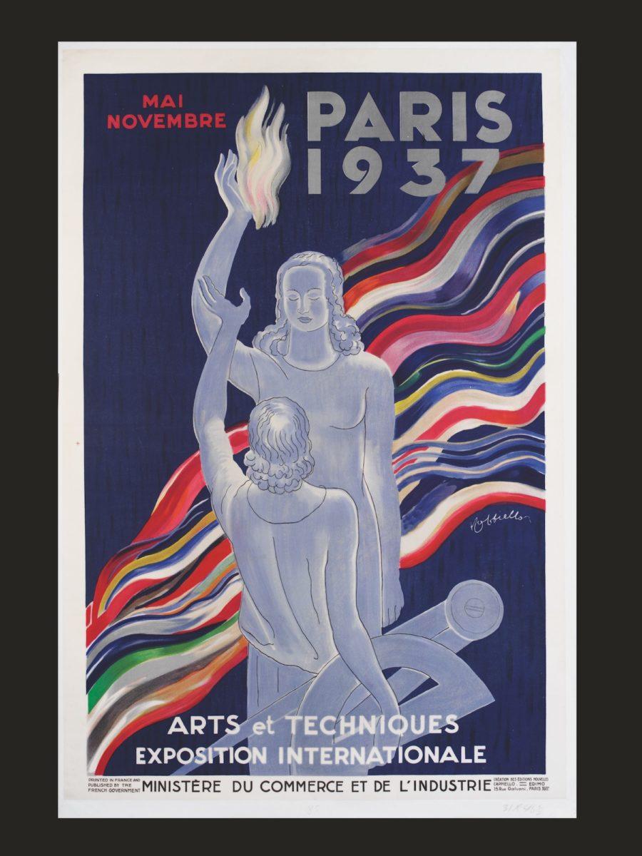 Leonetto Cappiello, Paris 1937, Arts et Techniques Exposition Internationale. Issued by the Ministère du Commerce et de l'Industrie. France, 1937  © 2020 Victoria and Albert Museum, London